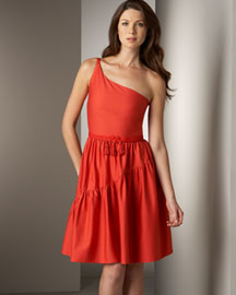 Twelfth Street One-Shoulder Dress -  Dresses -  Neiman Marcus :  designer dress dresses one-shoulder