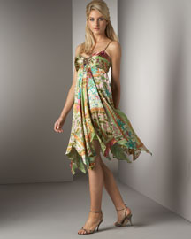 Sue Wong Pleated-Bust Dress -  Dresses -  Neiman Marcus from neimanmarcus.com
