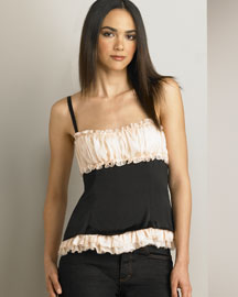 D&G Dolce & Gabbana Ruched Top -  Women's -  Neiman Marcus :  top designer d and g dolce and gabbana