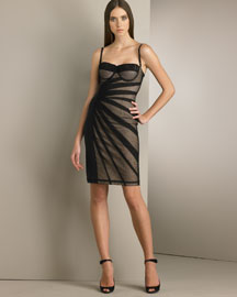 D&G Dolce & Gabbana Mesh Overlay Dress -  Pre-Fall Collections -  Neiman Marcus from neimanmarcus.com