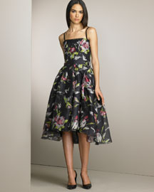 D&G Dolce & Gabbana Printed Silk Organza Dress -  Dresses -  Neiman Marcus :  designer dress silk organza dresses