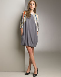 See by Chloe Sequined-Sleeve Jersey Dress -  See by Chloe -  Neiman Marcus :  formal sleeve see by chloe cocktail