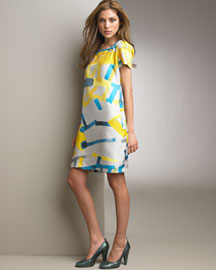 See By Chloe Graffiti-Print Dress -  See by Chloe -  Neiman Marcus :  see by chloe pockets dress yellow