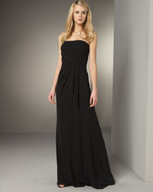 David Meister Draped Gown