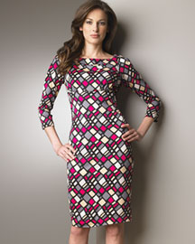 Diane von Furstenberg Soffer Printed Jersey Dress- Prints- Neiman Marcus from neimanmarcus.com