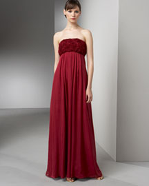 Bianca Nero Rose-Bust Gown