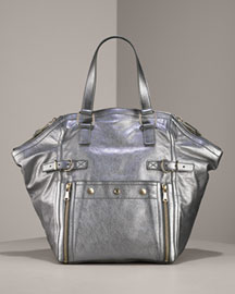 silver yves saint laurent bag