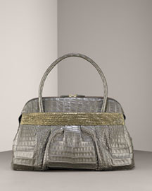 Nancy Gonzalez Crocodile & Python Satchel -  Fall/Holiday Collection -  Neiman Marcus :  neiman marcus crocodile gunmetal satchel