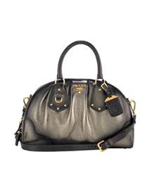Prada Antik Metallic Dome- Handbags- Neiman Marcus