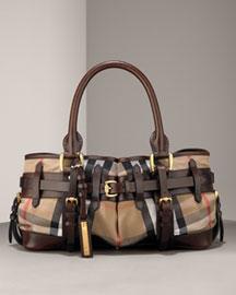 Burberry Belted Satchel- Handbags- Neiman Marcus