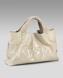 Salvatore Ferragamo             Vernice Grace Patent Tote-     Handbags-  Neiman Marcus from neimanmarcus.com