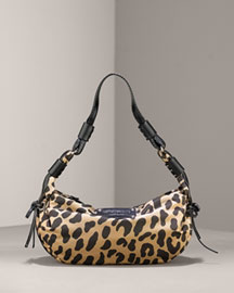 Kate Spade mini gabi animal-print hobo -  Designer -  Neiman Marcus :  animal gold calfskin camel