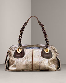 Chloe Helouise Cherry- Handbags- Neiman Marcus :  handbag bag tonal topstitching