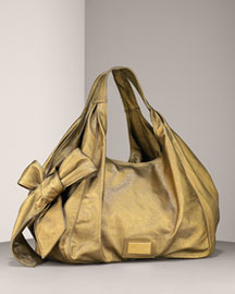 Valentino            Nuage Bow Shopping Bag -   Neiman Marcus :  chic bronze tied bow nuage bow