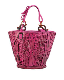 Dior Samouri Shopper -  Woven -  Neiman Marcus :  fringed accessories spring 2008 hobo