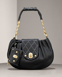 Juicy Couture            Agyness Shoulder Bag -   		Handbags - 	Neiman Marcus :  link chain top handle gathered front gathered agyness