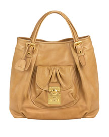 Miu Miu Large Leather Tote -  Handbags -  Neiman Marcus