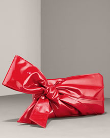 Valentino Patent Side Bow Clutch -  Handbags -  Neiman Marcus
