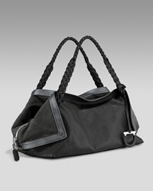 Salvatore Ferragamo Origami Kid Air Satchel -  Designer -  Neiman Marcus :  designer accessories shoulder bag fashion accessories origami kid air satchel