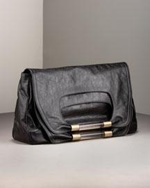 Chloe Nancy Large-Flap Clutch- Premier Designer- Neiman Marcus