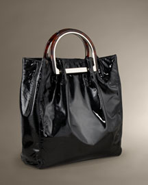Elie Tahari Patent Leather Shopper -  Designer -  Neiman Marcus :  designer accessories shoulder bag fashion accessories bag