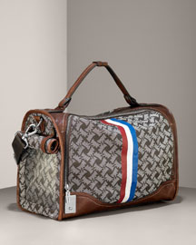 Juicy Couture            Scottie Canvas Dog Carrier -   		Pets - 	Neiman Marcus :  scottie print deep brown shoulder strap topstitching