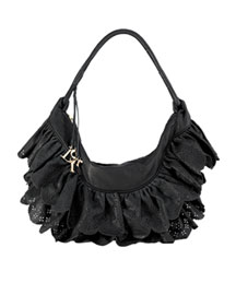 Dior Gaucho Ruffles Bag, Medium -  Neiman Marcus :  nm handbag ruffle black