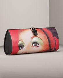 Jimmy Choo Pilar Bakelite Face Clutch- Premier Designer- Neiman Marcus