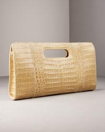 Carlos Falchi Croc Clutch- Handbags- Neiman Marcus :  clutch croc carlos falchi bag