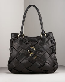 Botkier Woven Leather Tote -  Woven -  Neiman Marcus :  womens wear hobo satchel gold