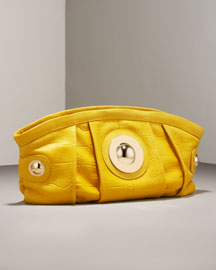 Gustto Ciosa Croc-Embossed Clutch -  Handbags -  Neiman Marcus :  modern hobo croc collection