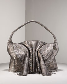 Carlos Falchi Buffalo Anaconda Bag -  Evening -  Neiman Marcus :  leather accessories neiman marcus metallic