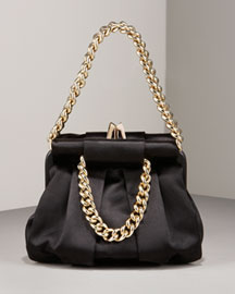 Christian Louboutin Small Satin Chain Bowler- Chain Handbags- Neiman Marcus