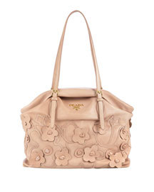 Prada Floral Tote -  Accessories -  Neiman Marcus :  modern woman shoulder bag dior