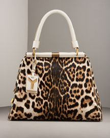 Yves Saint Laurent Leopard Print Leather Swing Bag -  Accessories -  Neiman Marcus :  swing bag shopper leopard new