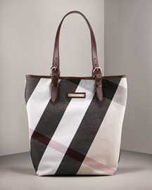 Burberry Victoria Mega Check -  Premier Designer -  Neiman Marcus :  premier woman shoulder bag couture