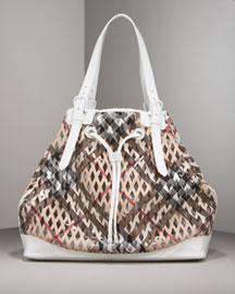 Burberry Drawstring Tote -  Premier Designer -  Neiman Marcus :  downtown accessories chick different