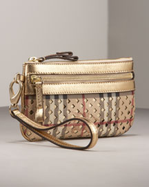 Burberry Metallic Wristlet -  Premier Designer -  Neiman Marcus :  downtown accessories chick different
