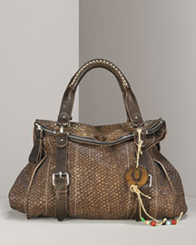 True Religion Leyla Python-Embossed Day Bag -  Handbags -  Neiman Marcus