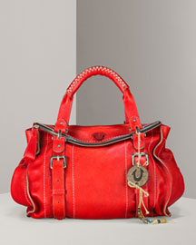 True Religion Leyla Tumbled Leather Day Bag -  Designer -  Neiman Marcus from neimanmarcus.com