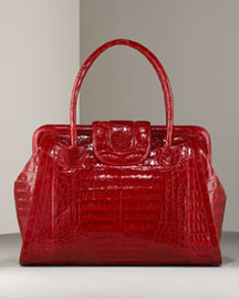 Nancy Gonzalez Croc Satchel, Large :  accessories nancy gonzalez handbags