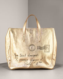 Yves Saint Laurent Y-Mail Tote, Large- Premier Designer- Neiman Marcus from neimanmarcus.com