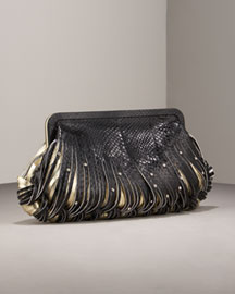 Katherine Kwei Donna Knotted Watersnake Clutch -  Handbags -  Neiman Marcus