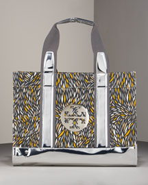 Tory Burch Field Tote -  Tory Burch -  Neiman Marcus :  mirror bag satchel metallic