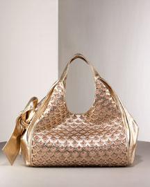 Valentino Nuage Bow Tote- Premier Designer- Neiman Marcus :  chic neiman womens metallic