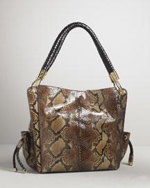 Michael Kors Python Skorpio Shopper- Premier Designer- Neiman Marcus