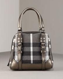 Burberry Sophie Bowler- Premier Designer- Neiman Marcus :  womens metallic satchel accessories
