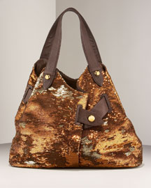 Sequined Wrap Bag -                                 Neiman Marcus :  handbag diane von furstenberg bag brown