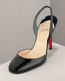 Christian Louboutin Patent Leather Pump -  Christian Louboutin -  Neiman Marcus :  black heels shoes patent