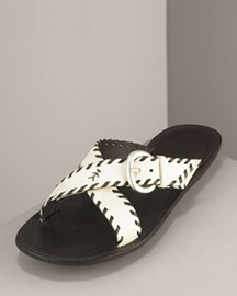 Henry Beguelin Whipstitched Sandal